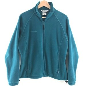 Columbia Tops - Columbia Women's Teal Zipper Fleece Jacket